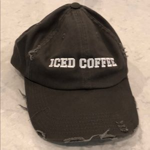 Accessories - Iced coffee distressed hat